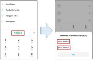 cara cek imei xiaomi secara online dengan kode dial