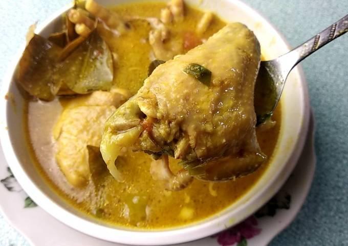 cara masak opor ayam tanpa santan